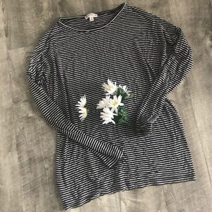 Zenana Outfitters Striped Long Sleeve Top
